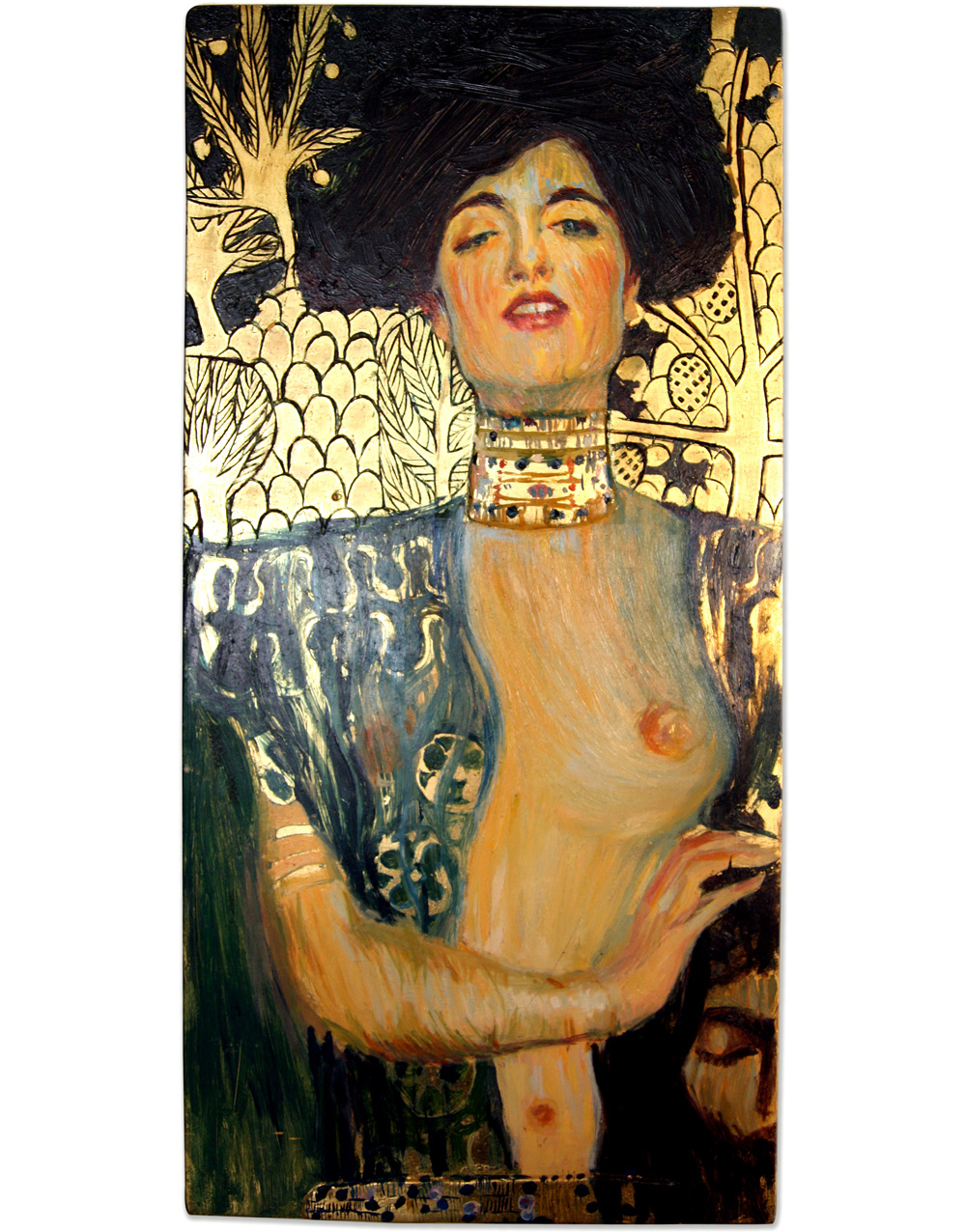 """""""Judith and the Head of Holofernes"""" by Gustav Klimt. Oil on panel. Gilding."""
